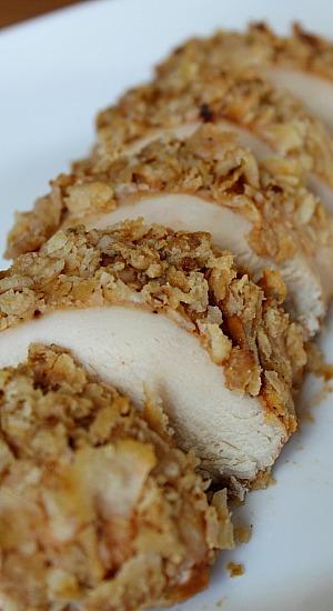 Sliced BBQ Onion Chicken Bake