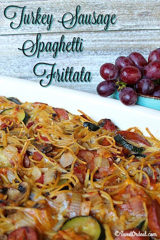 Turkey Sausage Spaghetti Frittata