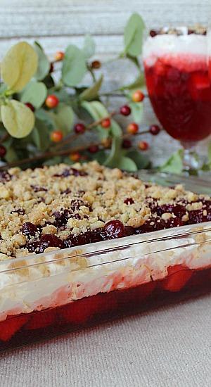 Layered Cranberry Cheesecake Dessert