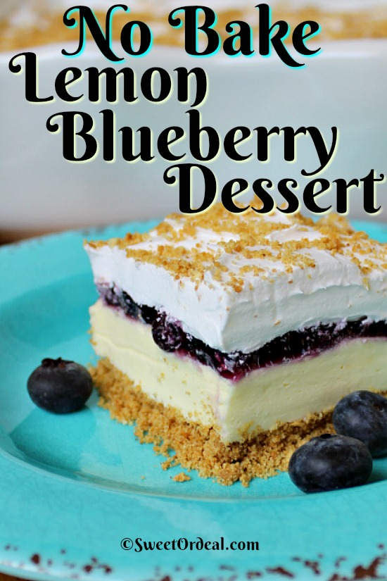 Layered dessert with lemon and blueberries.
