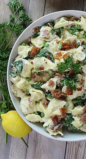 Creamy Spinach Prosciutto Tortellini