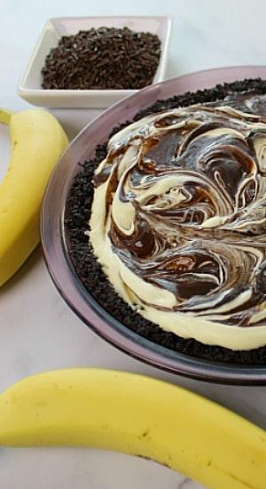 Banana Split Pie sans toppings.