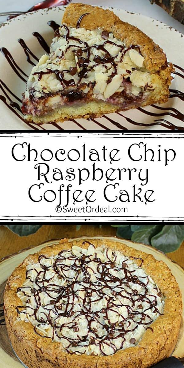 Chocolate Chip Raspberry Coffee Cake