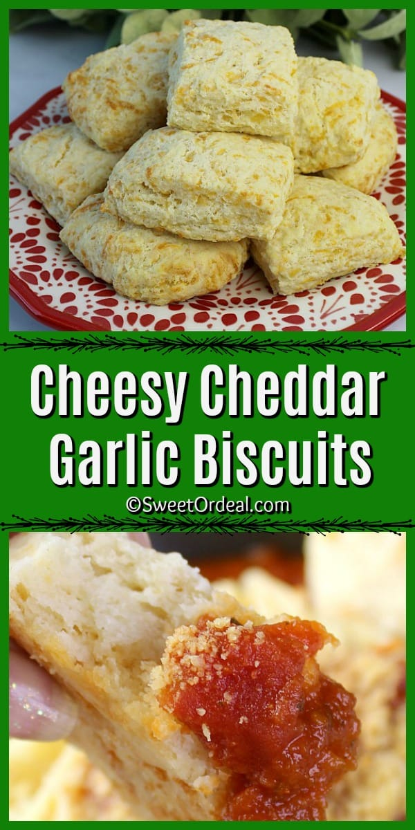 Cheesy Cheddar Garlic Biscuits