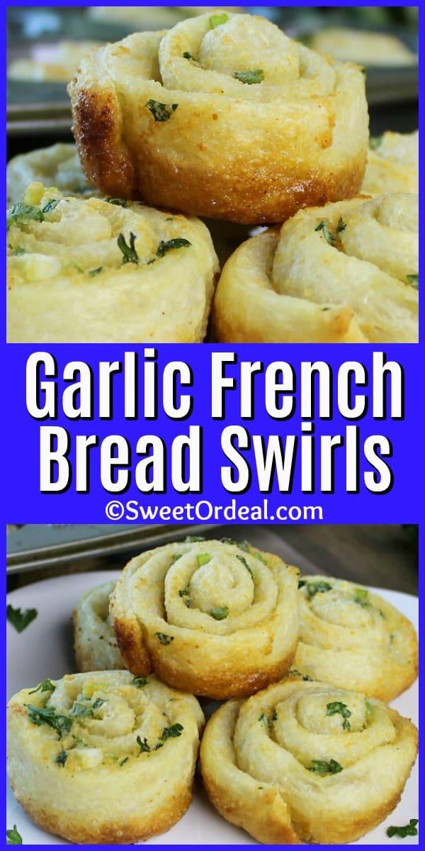 Golden brown dinner rolls in swirl shapes.