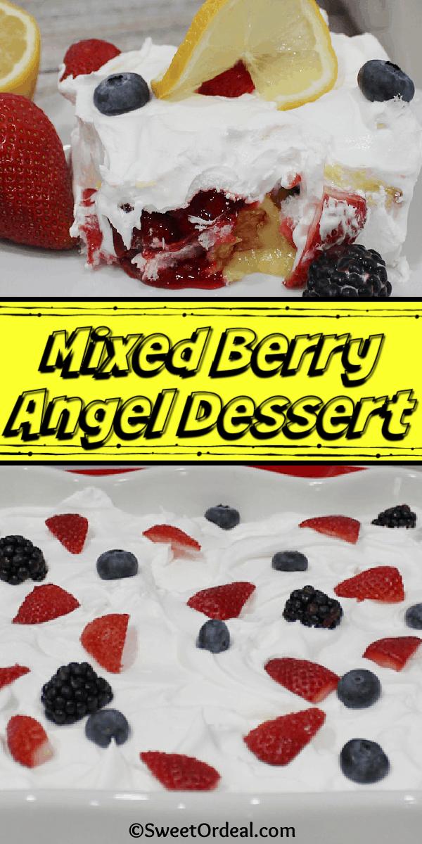 Mixed Berry Angel Dessert