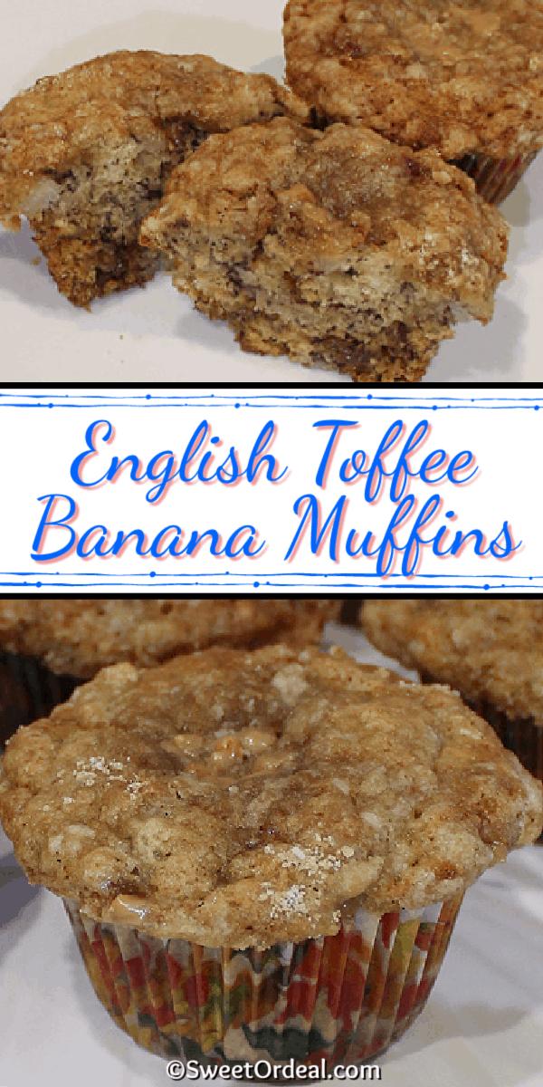English Toffee Banana Muffins
