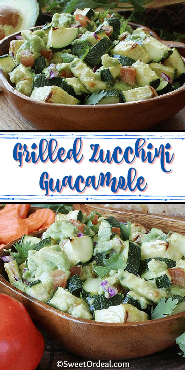 Grilled Zucchini Guacamole