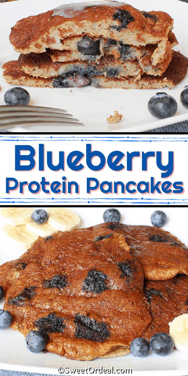 Fresh blueberries loaded inside each pancake.