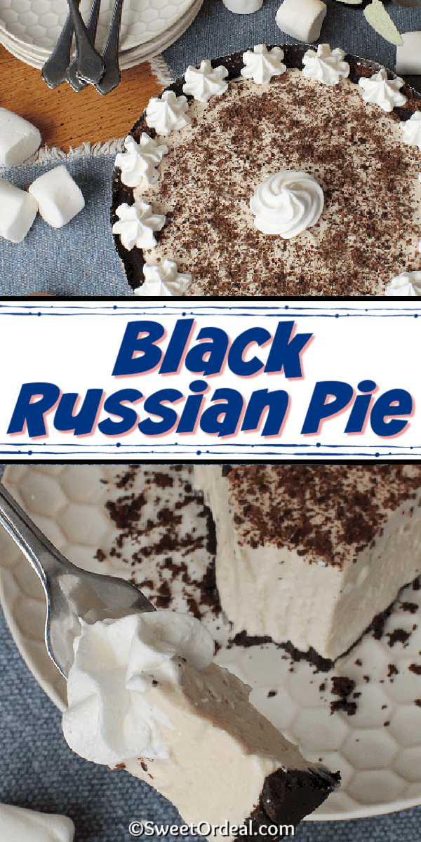 A chilled pie spiked with Kahlua on an Oreo crust.