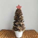 Trashtastic Tuesday on Wednesday- Brown Paper Christmas Tree