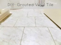 DIY Grouted Vinyl Floor Reveal and Tutorial  Sweet