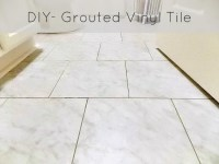 DIY Grouted Vinyl Floor Reveal and Tutorial  Sweet ...