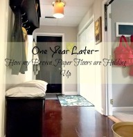 One Year Later- How my Brown Paper Floors are Holding Up