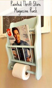 Trashtastic Tuesday- Painted Thrift Store Magazine Rack