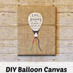 DIY Wall Art- Balloon Canvas