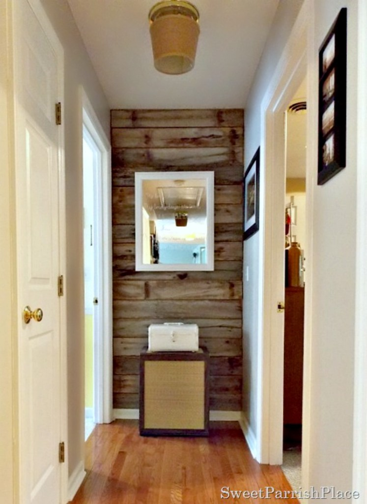 Trashtastic Tuesday- DIY Rustic Wood Wall