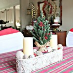 DIY Christmas Centerpiece with Sweater Bulbs