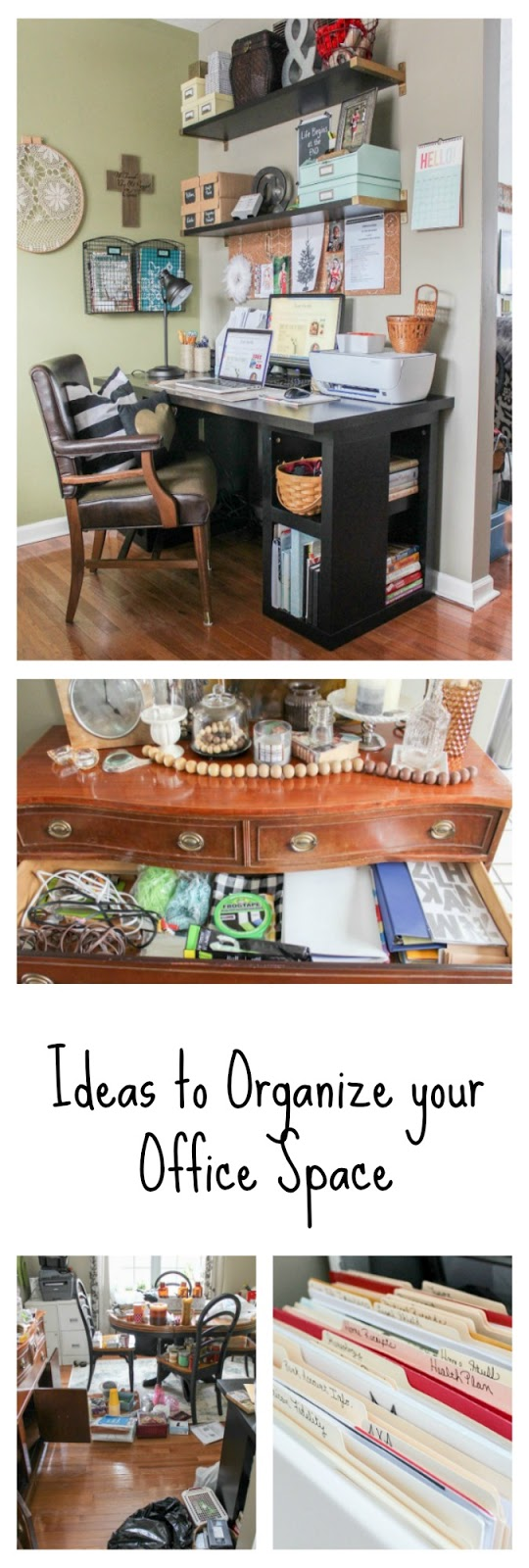 Organizing My Office Space. ugly office desk try my diy back to ...