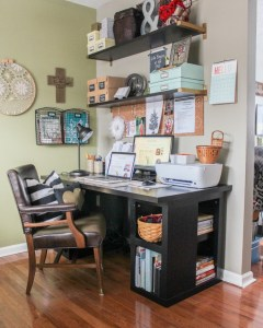 Ideas and Incentive to Organize Your Home- Week #2- Craft/Office Space