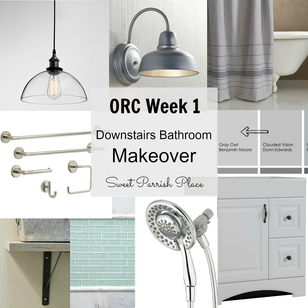 ORC Week 1- Downstairs bathroom makeover before photo