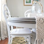 Weathered Grey Dining Table Makeover Trashtastic Treasures Sweet Parrish Place