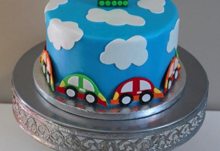 Car 1st Birthday Cake Sweet Passion Cakery