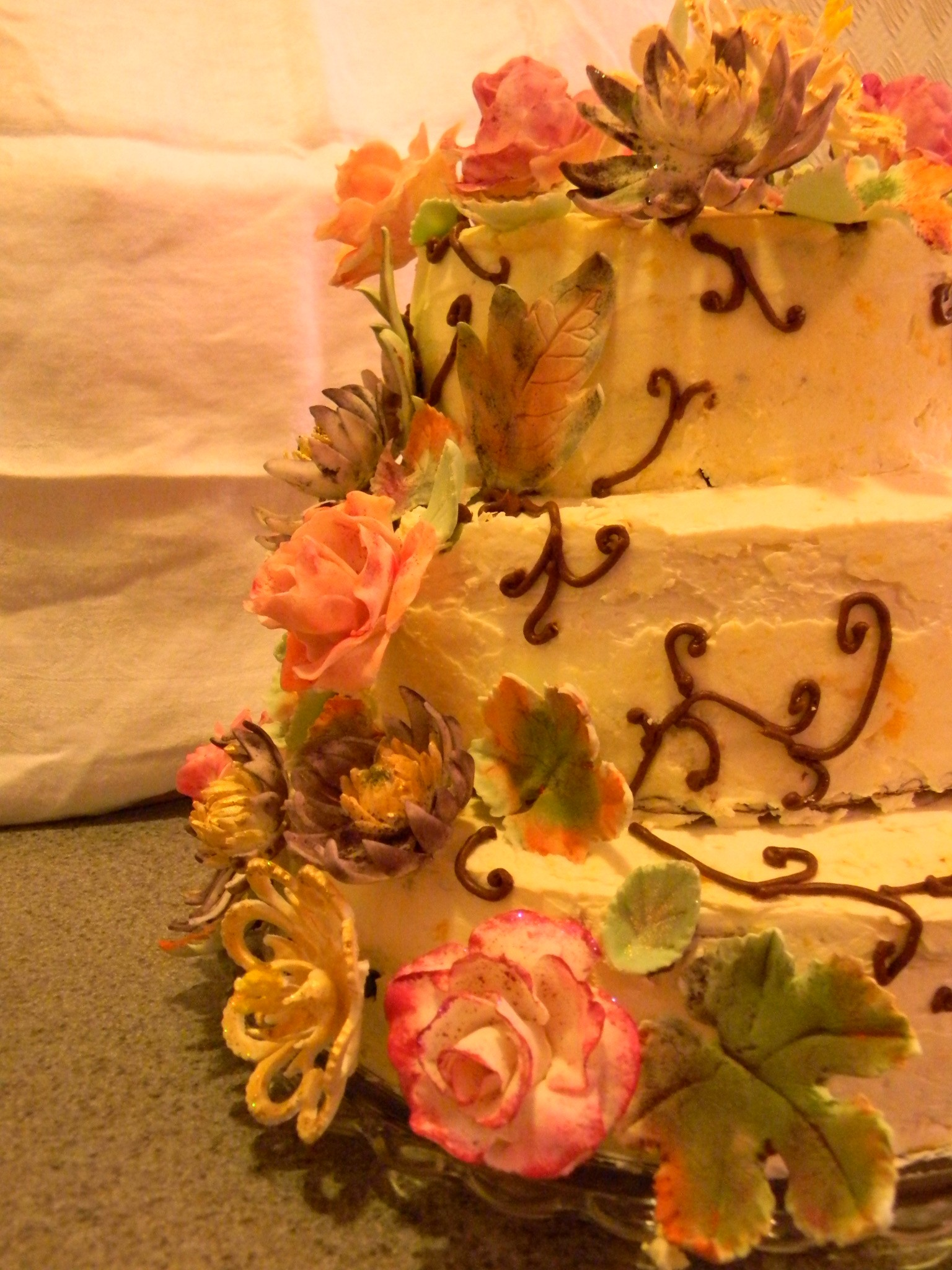 Autumn Flower Birthday Cake  Sweet Pea