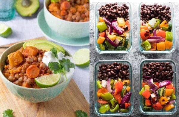 59 vegan meal prep recipes including vegan packed lunch ideas that will have you covered for convenient plant-based breakfasts, lunches, dinners and snacks!