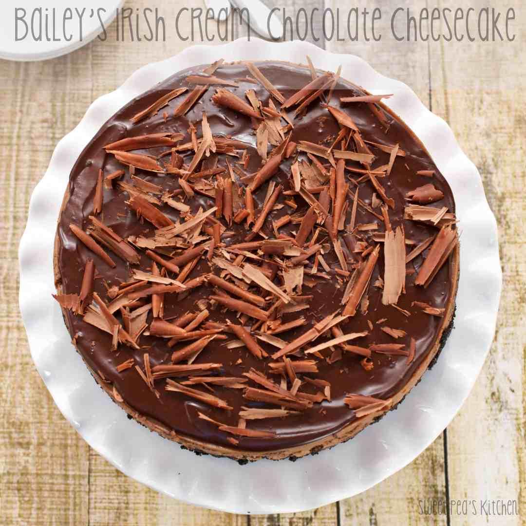 Bailey's Irish Cream Chocolate Cheesecake
