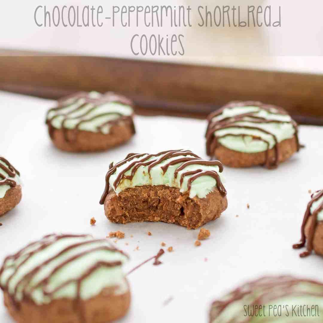 Chocolate-Peppermint Shortbread Cookies