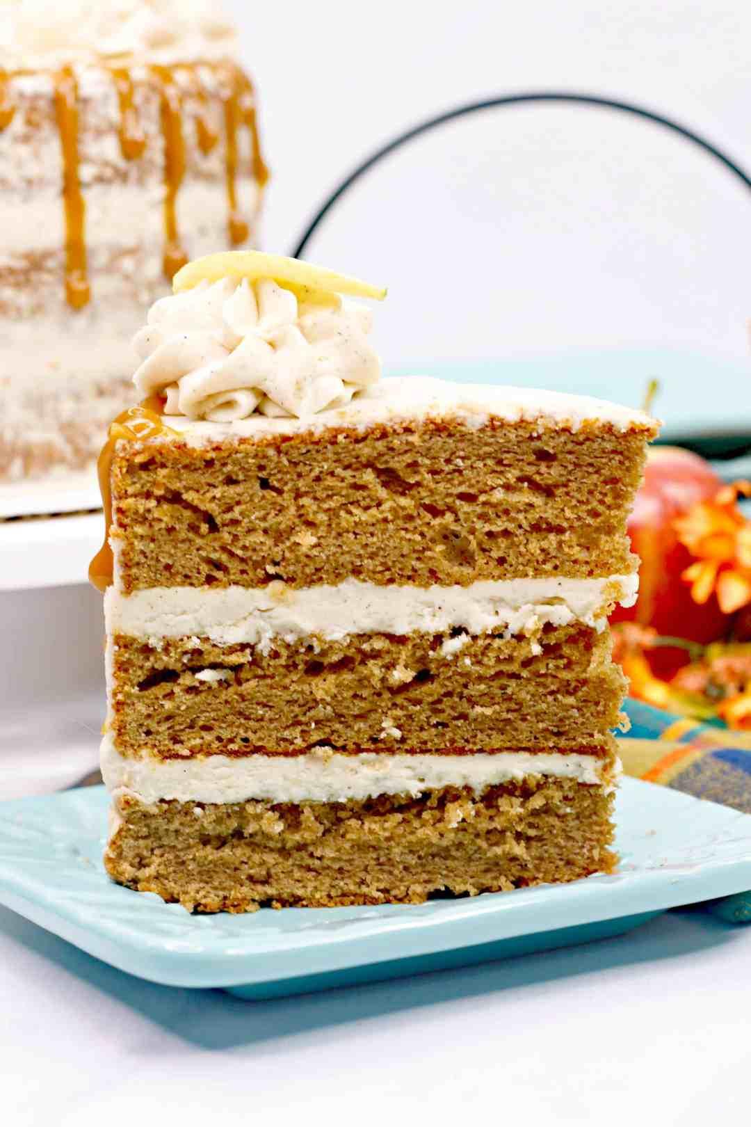 Three Layer Apple Spice Cake Recipe