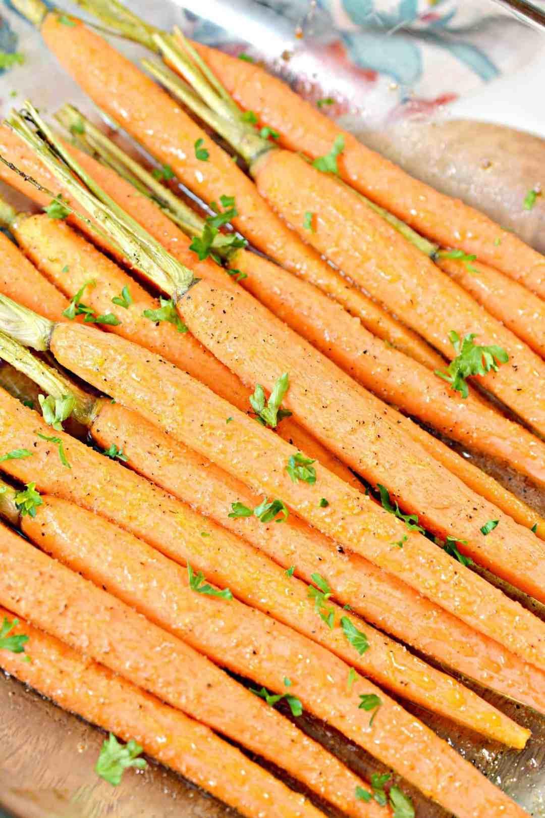 Honey Glazed Oven Roasted Carrots