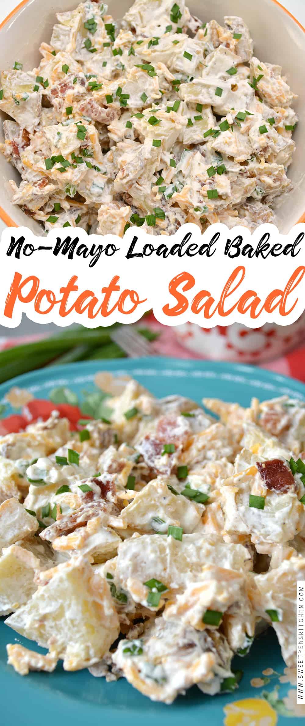 No-Mayo Loaded Baked Potato Salad