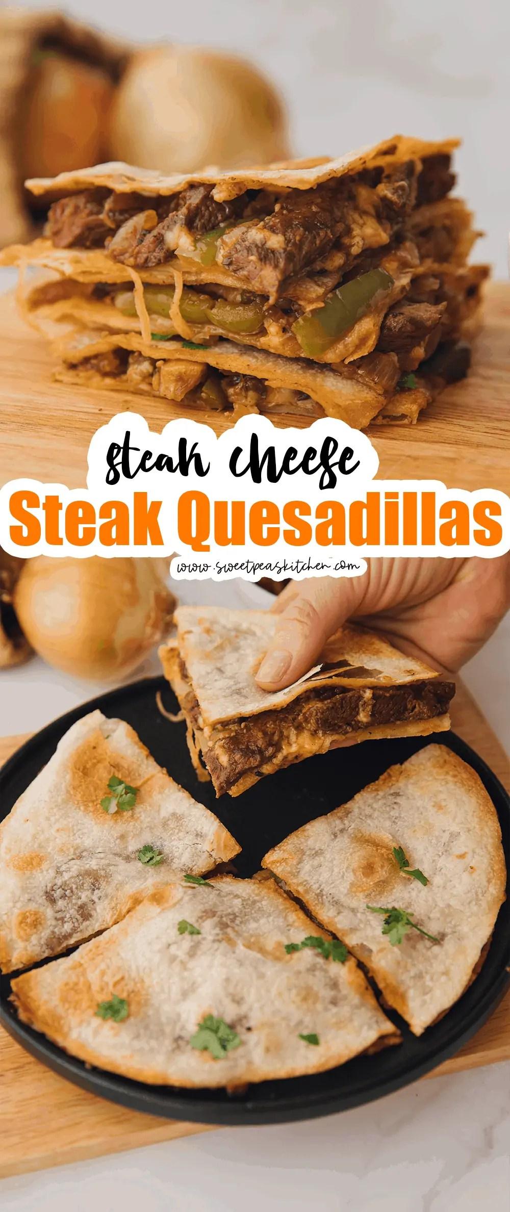 Steak Cheese Steak Quesadillas