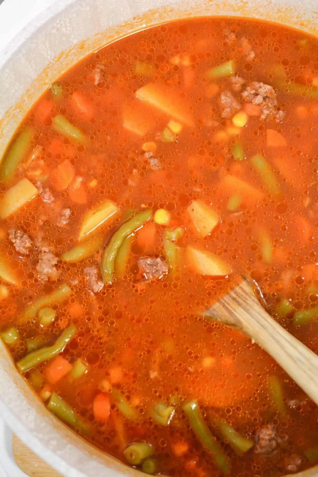 Grandma's Hamburger and Vegetable Soup