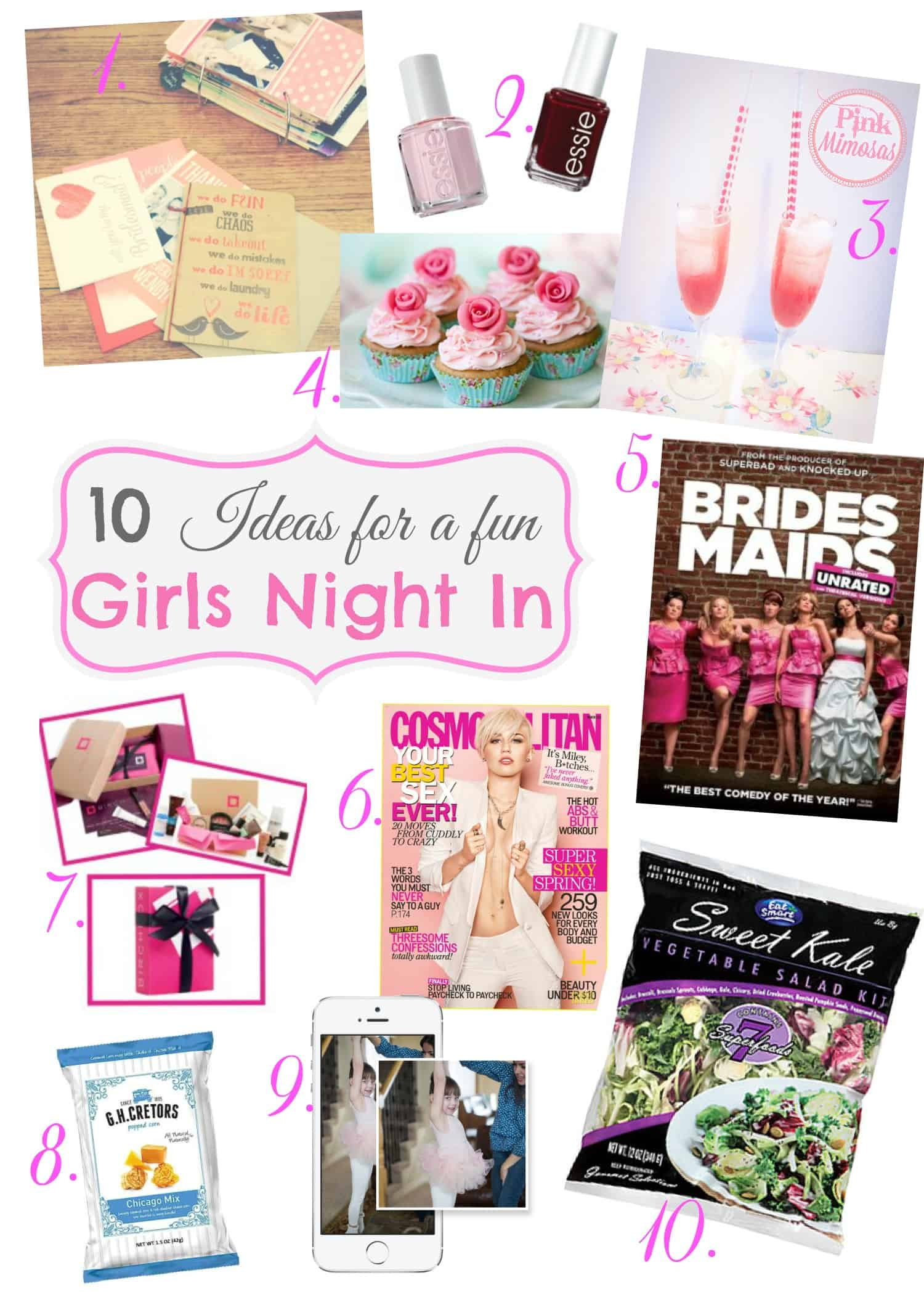 Sweet Sundays 10 Ideas for a Girls Night In  Sweetphi