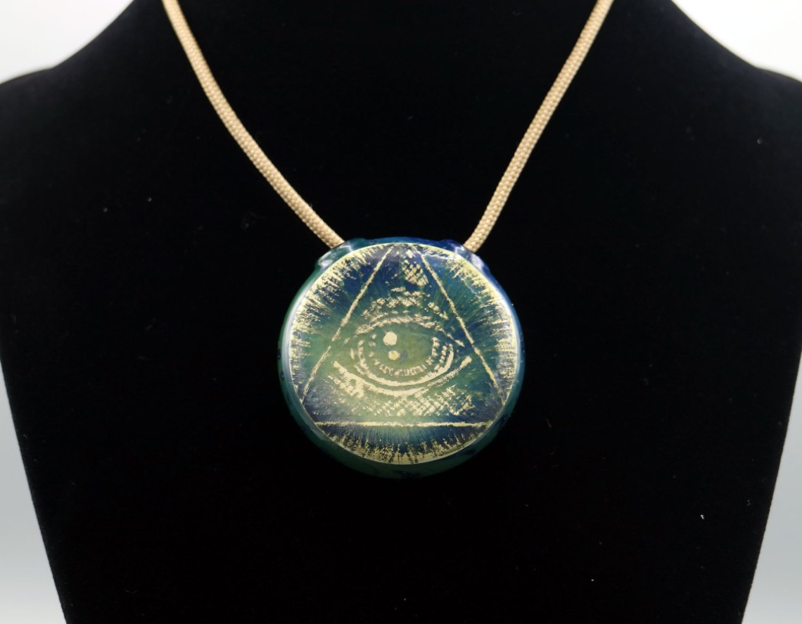JahOne – Carved Pyramid Eye Pendant