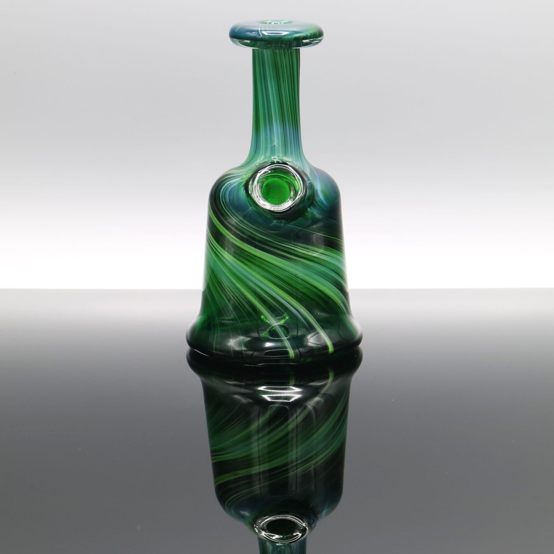 Glassmith – Experimental Green Pocket Bottle 2