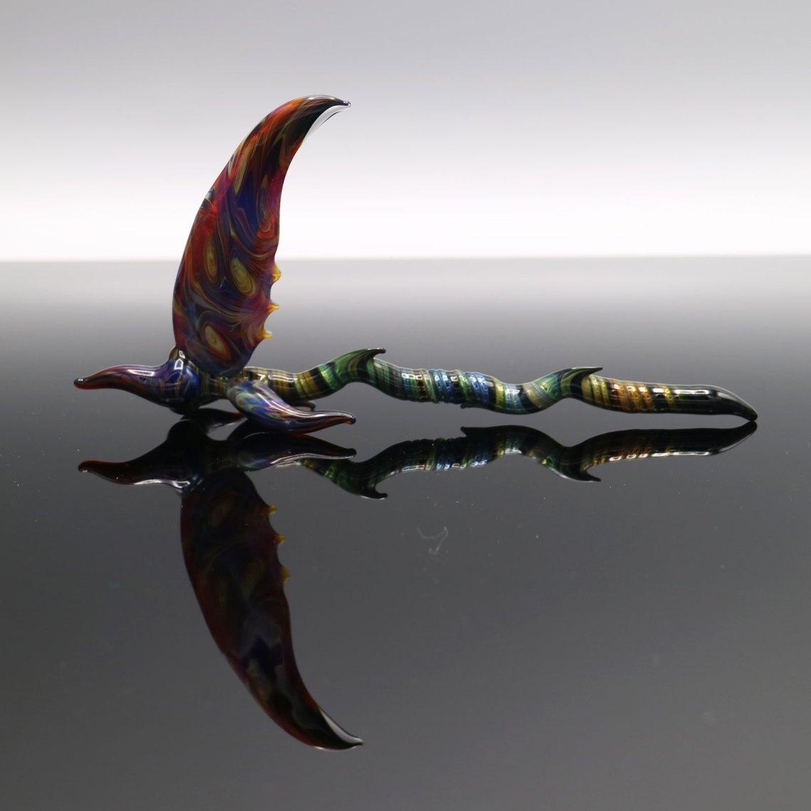 B-Hold Glass – Swirl Fumed Scythe