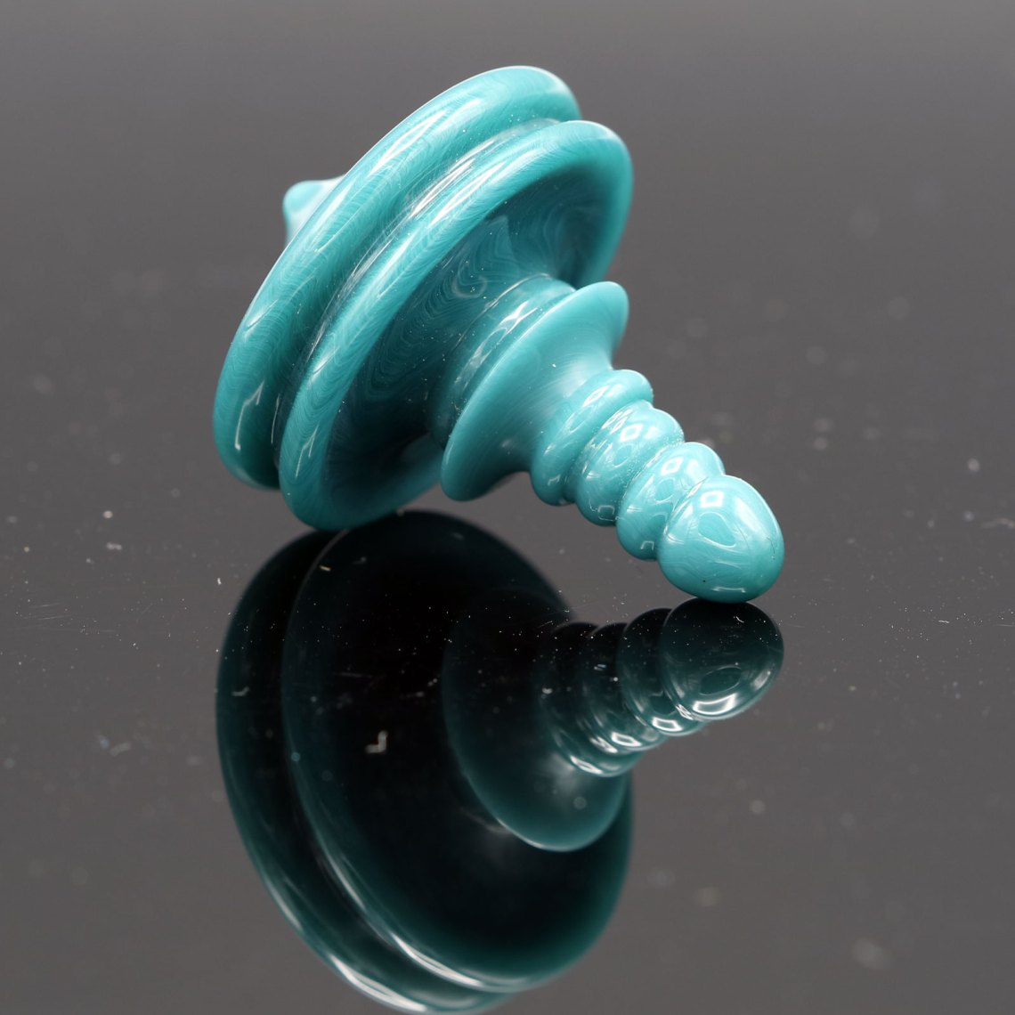 Mike Philpot – Aquamarine Spinning Glass Top