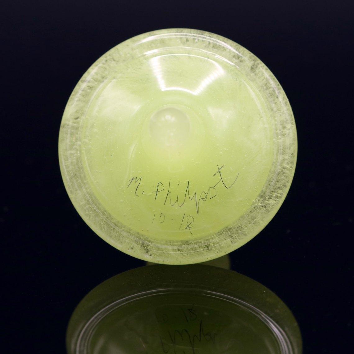 Mike Philpot – Light Green Spinning Glass Top