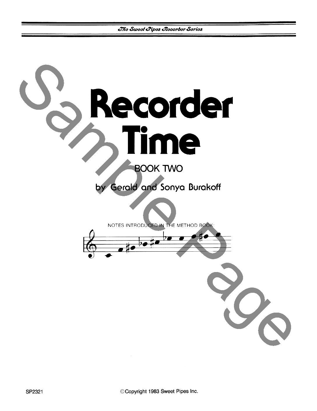 SP2321 Recorder Time, Book 2