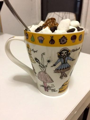 The Cinnamon Chocolate Delight in my Nutcracker mug!
