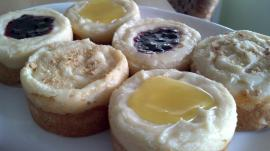 Short~n~Cheesy Shortbread Mini Cheesecakes