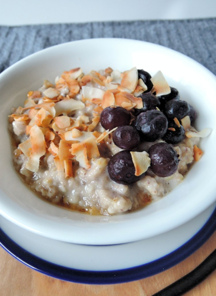 steel cut oats with berries and coconut
