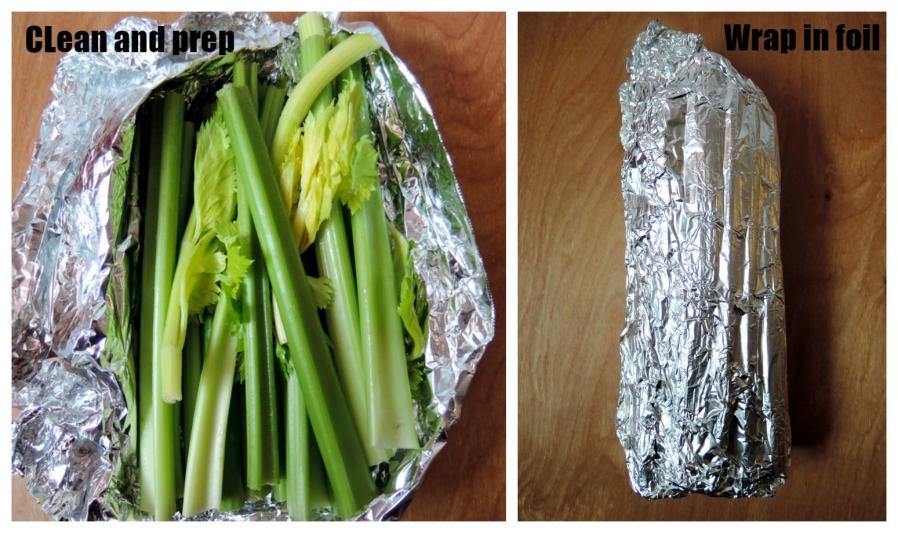 celery in foil photo