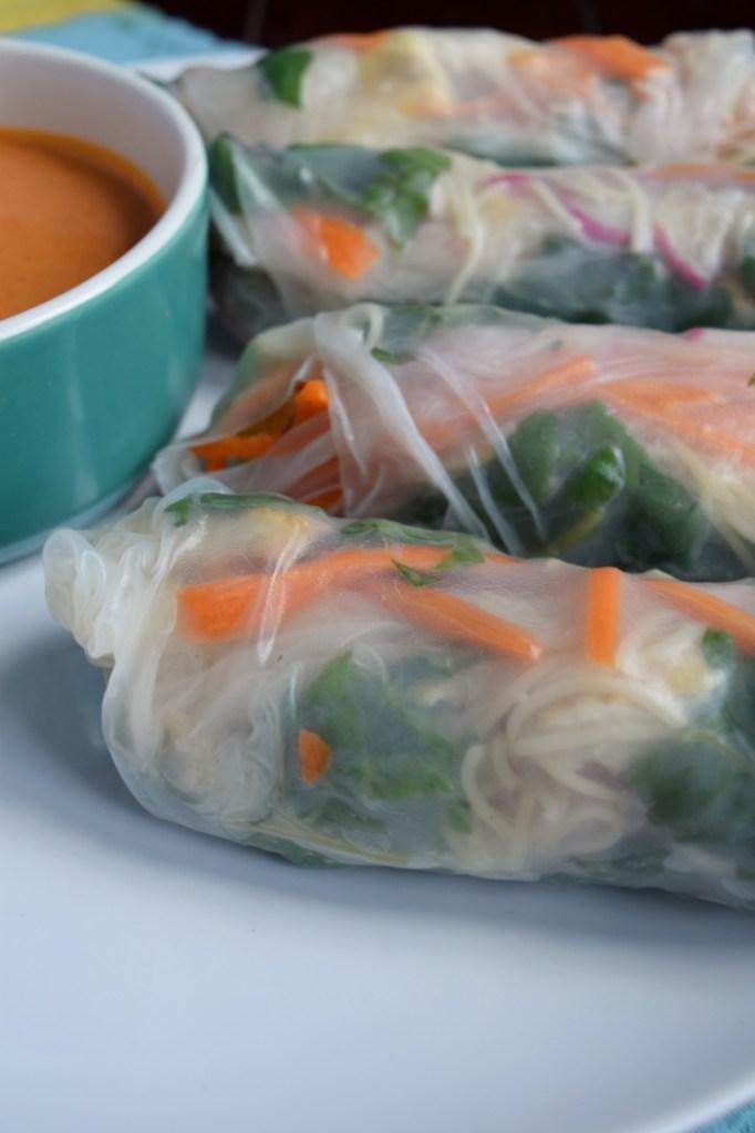 Spring Rolls with Thai Peanut Dip.5