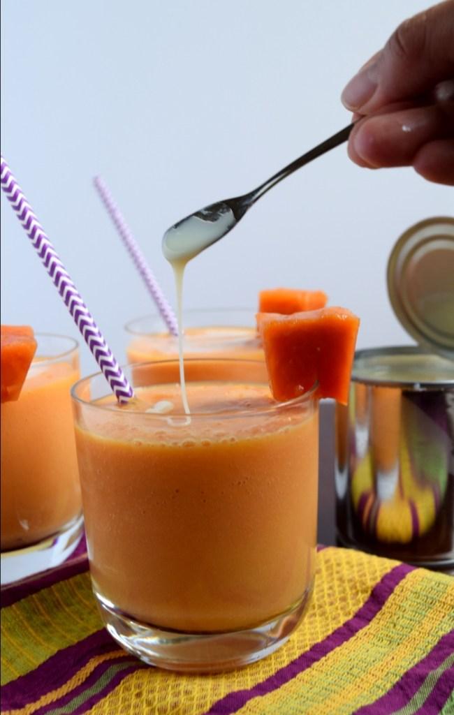 papaya smoothie or merengada.2