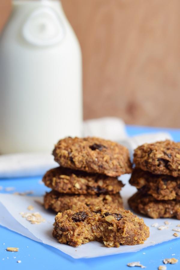 Pumpkin and Oats Breakfast Cookies #glutenfree #vegan #dairyfree